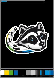 nouveau logo, tête de la mascotte  expert laveur d'AMS
